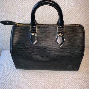 Louis Vuitton Epi Black Speedy 25